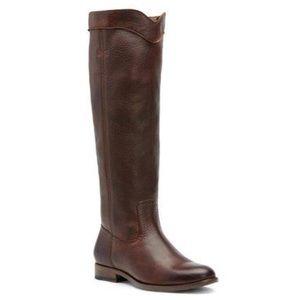 NWOT FRYE Cara Roper Riding Boot Chocolate